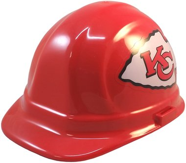 Texas American Safety Company NFL Kansas City Chiefs Hard Hats with Ratchet Suspension 1