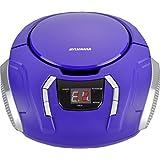 Sylvania Portable CD Boombox with AM/FM Radio, Purple