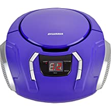 Sylvania Portable CD Boombox with AM/FM Radio, Purple