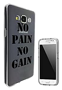 c0339 - Cool Fun Quote No Pain No Gain Design Samsung Galaxy J1 Fashion Trend Hard Plastic Case Protective Full Case Front, Back & All Edges Protection Case Cover