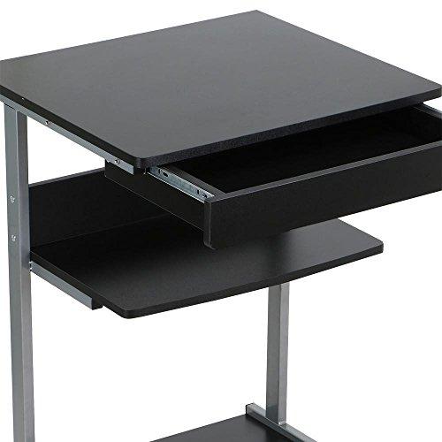 Get Yaheetech Mobile Computer Desk Cart Rolling Laptop PC