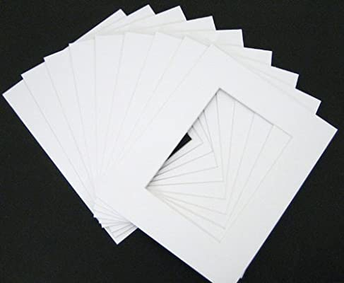 Bags Golden State Art K08100507501w050 Backing Set of 50 8x10 WHITE Picture Mats Mattes Matting for 5x7 Photo
