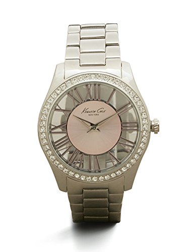 Kenneth Cole New York Women's KC4982 Transparency Round Pink Roman Numeral Transparent Dial Bracelet Watch