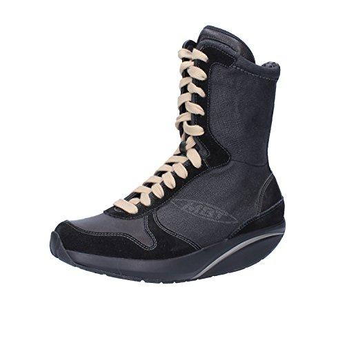 Black 35 EU 4 Women 5 Textile Leather US 4 Boots Suede MBT Ankle Sngpqwxzq0
