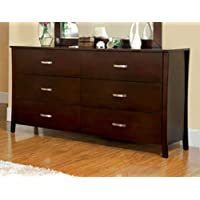 247SHOPATHOME Idf-7600D, dresser, Walnut