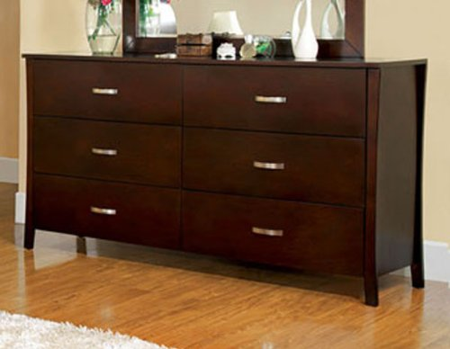 247SHOPATHOME , Dresser, Walnut - Contemporary style Curved edges Solid woods veneers - dressers-bedroom-furniture, bedroom-furniture, bedroom - 41N6OrgKKeL -