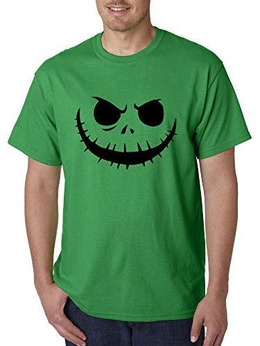 New Way 971 - Unisex T-Shirt Jack Skellington Pumpkin Face Scary Medium Kelly Green -