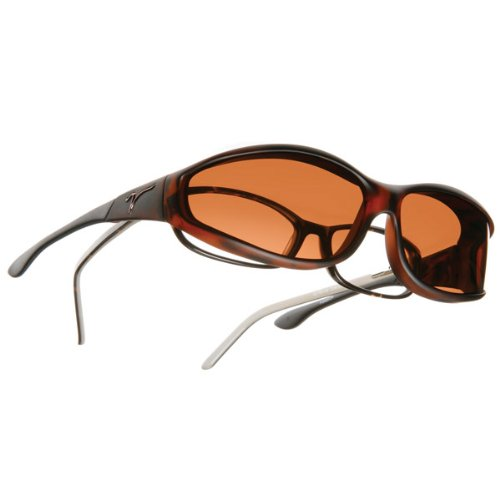 Vistana OveRx Sunglasses Soft Touch Tort Copper - Sunglasses Cocoons Fit Over