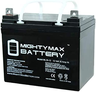 Mighty Max Battery 12V 35AH SLA Battery for John Deere Tractor Riding Mower  Brand Product