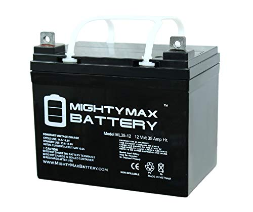 Batteries Gel Cart Golf - Mighty Max Battery ML35-12 - 12V 35AH DC DEEP Cycle SLA Solar Energy Storage Battery Brand Product