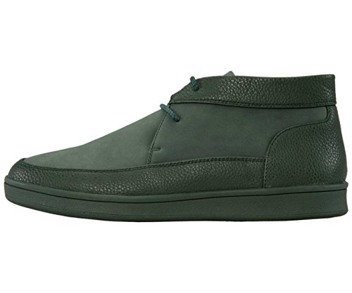 Sio Pebble Grain & Faux Suede Moc Toe High Top Stile Sneaker Casual Tyson Verde