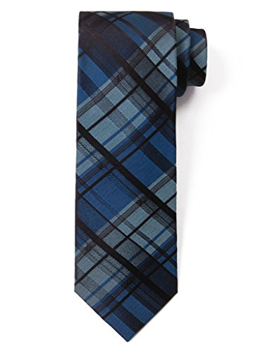 Origin Ties Classic Tartan Plaid Check Silk Tie 3'' Skinny Necktie Green/Black (Mens Ties Italian compare prices)