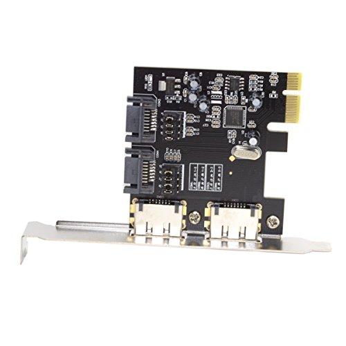 JSER PCI-E To 4 Ports SATA 3.0 ESATA PCIE SATA3 6Gbps Exp...