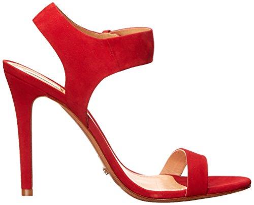 Red Dubia Schutz Scarlet Sandal Women's Dress Nubuck 6XqRqvSn