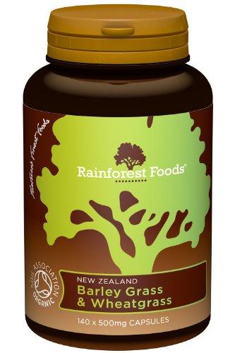 Rainforest Foods NZ Barley Grass & Wheatgrass 140 capsule (Barley Grass Capsules)