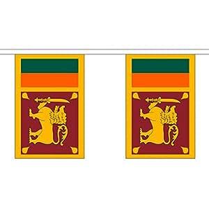 3 metros 10 (22,86 cm x 15,24 cm) de la bandera de Sri Lanka aziz 100% poliéster Material banderines de fiesta Ideal para decorar Street House Pubs colegios de palos de golf