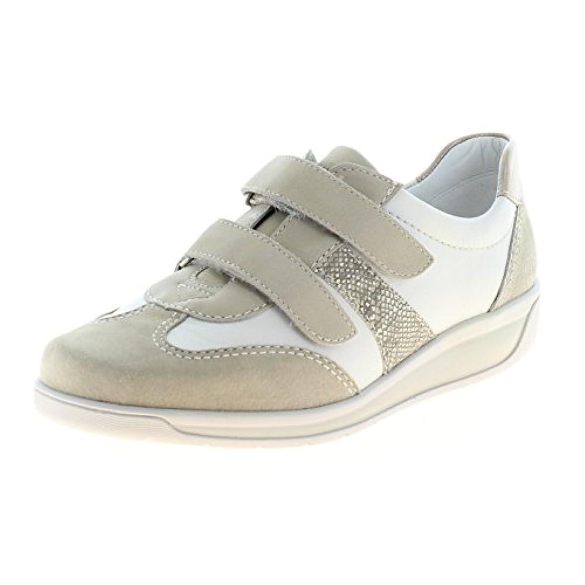 Ara Meran 26303 Sneaker Velcro Donna Bianco platino