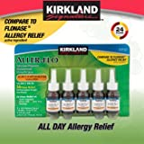Kirkland Aller-Flo Fluticasone Propionate (Glucorticoid) 5 bottles x 120 Metered Sprays .54 Fl OZ per bottle (15.84 mL x 5) 2.70 OZ total (79.0 mL total) 600 Total Sprays total