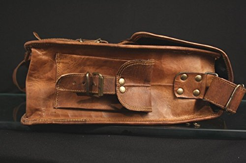Handmadecraft Unisex Real Leather Messenger Bag for Laptop