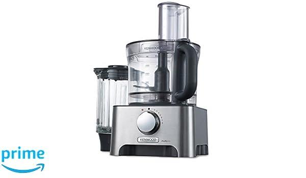 Kenwood FDM791 Robot de cocina, giratorio, 1000 W, 3 L, plástico, aluminio, color plata: Amazon.es: Hogar