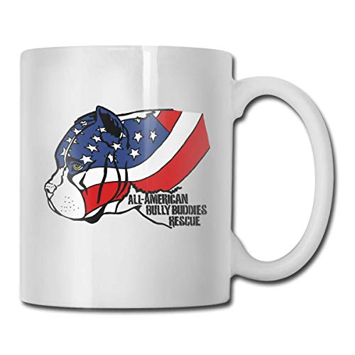 American Bully Funny Novelty Gift Mug White Tea Brewing Cups ()