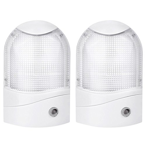 LE 2 Pack 6 LED Night Light With Dusk to Dawn Sensor, Plug-i
