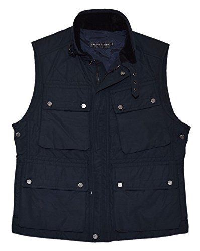 Jacket Ralph Lauren Black Label - Polo Ralph Lauren Black Label Mens Quilted Vest Cargo Jacket Navy Blue Medium