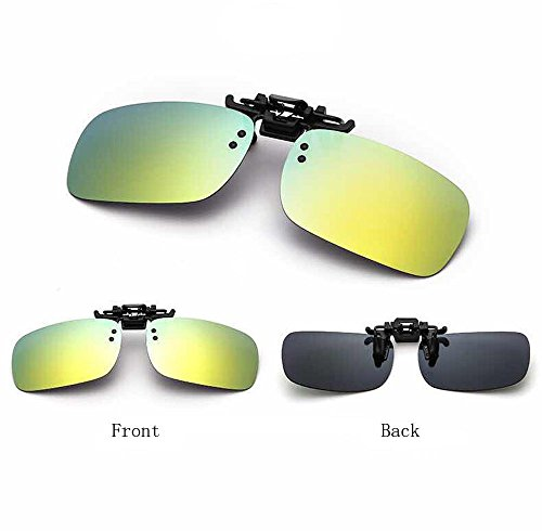 Clip-on Sunglasses Polarized Lens With Metal Flip Up For Driving, Outdoor Sports & Holidays - 1 Piece (Monster Sunglasses)