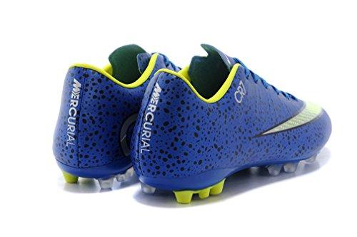 Herren Mercurial Vapor Superfly IIII X AG Navy Blau Low Fußball Schuhe Fußball Stiefel
