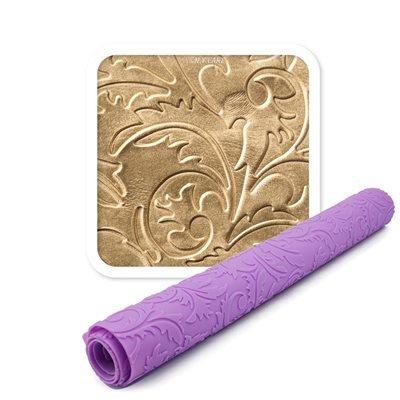 NY Cake IM001 Filigree Damask Silicone Impression Mat, 22 .5'' x 15'', Purple