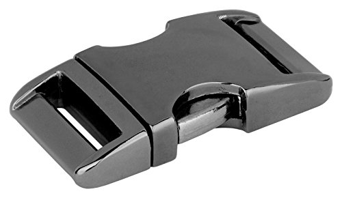 10-3/4 inch Gunmetal Aluminum Side Release Buckles ()
