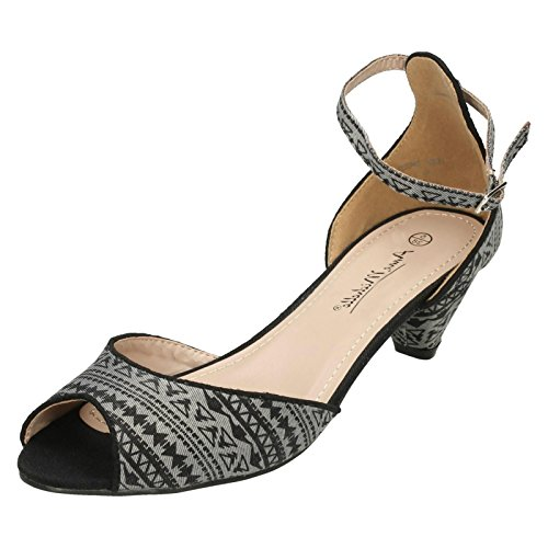 Anne Michelle Ladies Peep Toe Sandals Grey