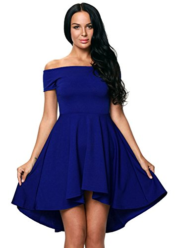 Blue Dress BlingZoe Cocktail Swing Women's Sexy Dress Shoulder Off qqwxfRv8