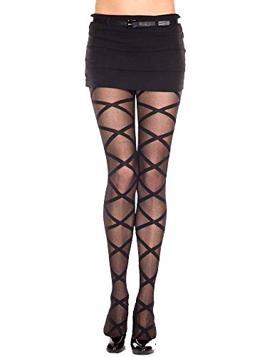lack Criss Cross Pattern Hosiery Tights (Diva Sheer)