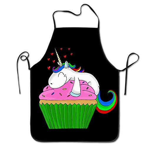 Unicorn Cupcake Chef Kitchen Cooking And Baking Bib Apron
