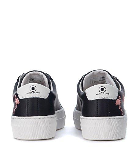Con En Negro Sneaker Flamingos Negra Moa Piel Flamingo xqO8fX7