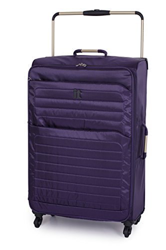 it luggage World's Lightest Spinner Collection with Quilted Front 32 Inch Upright, Purple, One Size