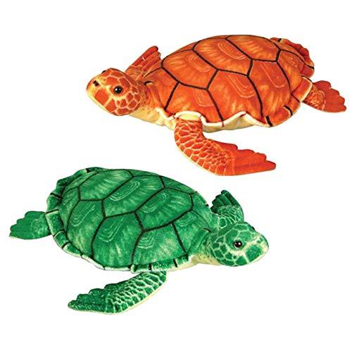 een Sea Turtle Stuffed Animal Plush Floppy Zoo Reptiles Collection ()