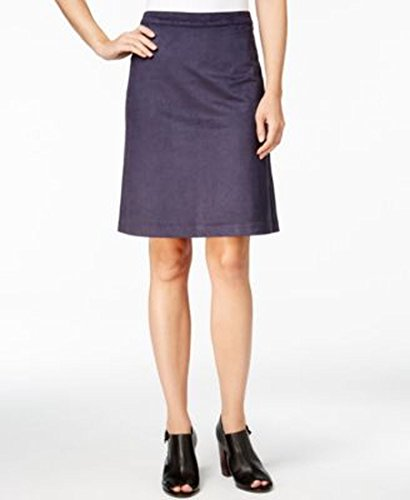 Tommy Hilfiger Womens Faux Suede Knee Length Straight Skirt Navy - Outlet Sale Tommy