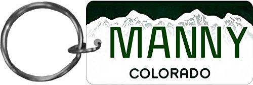 Personalized Colorado 2000 State Replica License Plate Keychain