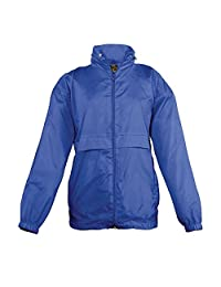 SOLS Kids Unisex Surf Windbreaker Jacket (Water Resistant And Windproof)