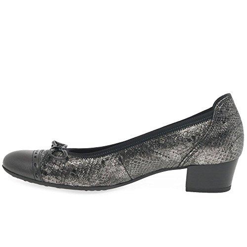 Tacco Snake Donna Argento Scarpe con Comfort River Gabor Fashion BTw8qInp