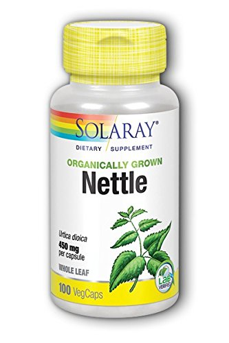 Solaray Organic Nettle Leaves Supplement, 450 mg, 100 Count (Leaf Nettle Freeze Dried)