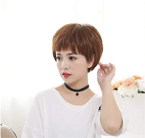 Lovely Funny Friendly Handsome Tomboy Short Straight Synthetic Hair Wigs Hallowmas Cosplay Masquerade Role Play Costume Party Accessories with Free Wig -