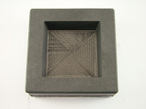 20 oz Gold 10 oz Silver Bar High Density Graphite Square Slab Mold Copper Made in the USA