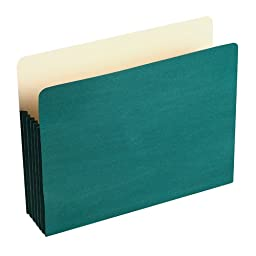 Wilson Jones Colorlife Recycled (50%) Expanding File Pockets, Letter Size, 5-1/4\
