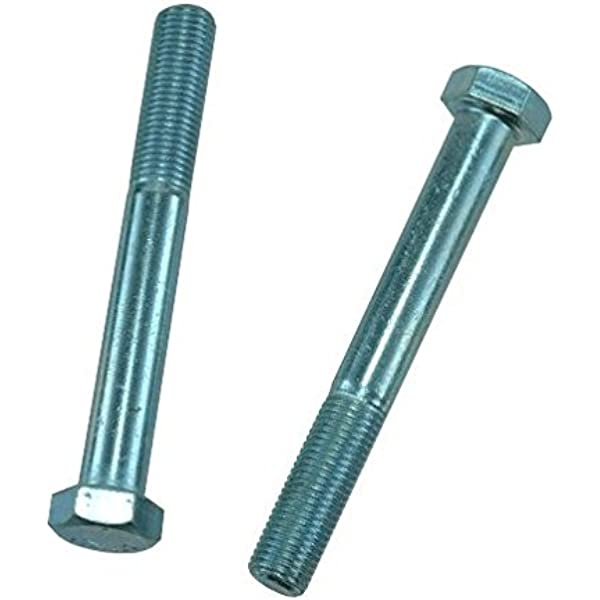 7//16-14 Thread Size Zinc-Plated Medium-Strength Grade 5 Steel Hex Head Screw 2-3//4 Long