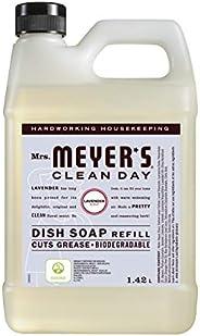 Mrs. Meyer's Clean Day Dish Soap Refill, Cruelty Free Dishwashing Liquid, Lavender Scent, 1.4 Liter Refill