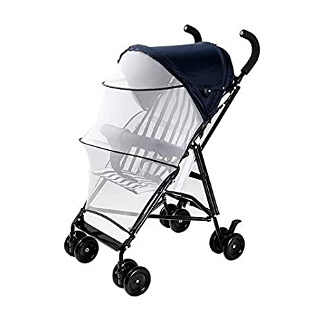 Cochecito de bebé ultralight,Silla de paseo plegable Conveniente para el avión Rápida carrito de doblez rápido de 4 ruedas con el pabellón de nacimiento a ...