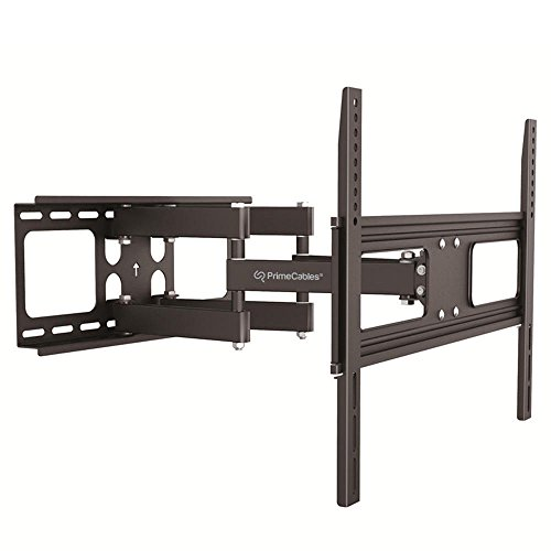 "PrimeCables © Tilts Swivel Full Motion TV Wall Mount Bracket 37"" to 70"" inch - Black For Flat Panel Monitor / LCD LED Plasma TV Universal Displays"